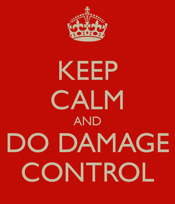 Example sentences containing 'damage control'